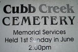 Cubb Creek Cemetery