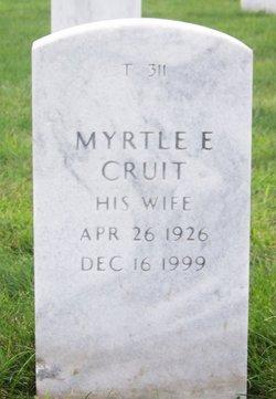 Myrtle E <I>Boden</I> Cruit