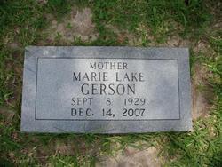 Marie <I>Lake</I> Gerson