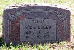 "Emma Belle ""Sadie"" <I>Morris</I> Bagby"