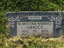 Mary Melvina <I>Kimball</I> Driggs
