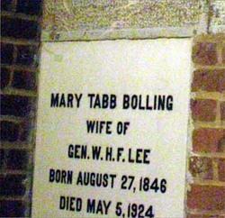 Mary Tabb <I>Bolling</I> Lee