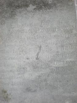 Rev Daniel Dwight