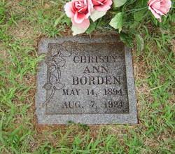 Christy Ann <I>Hamm</I> Borden