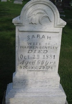 Sarah <I>Ormsby</I> Bentley