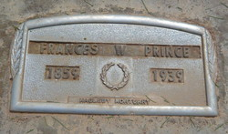 "Francis Sephia ""Fanny"" <I>Wilkins</I> Prince"