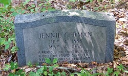 "Jennie ""An't Sweet Annie"" <I>Cornett</I> German"