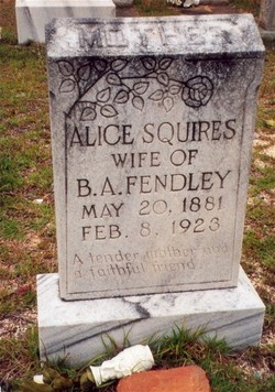 Sara Alice <I>Squires</I> Fendley