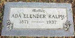 """Ada Elender """"Ellen"""" <I>Formby</I> Ralph"""