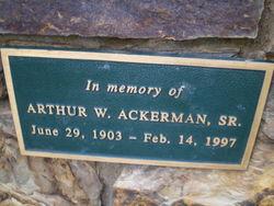 Arthur Waldron Ackerman, Sr