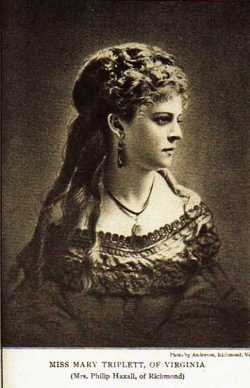 Mary Jenifer <I>Triplett</I> Haxall