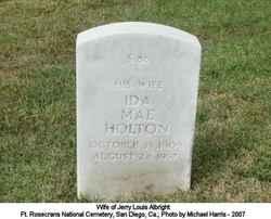 Ida Mae <I>Holton</I> Albright