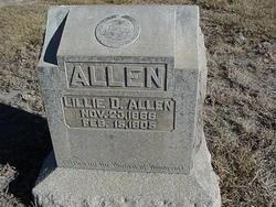 """Lillian Dale """"Lillie"""" <I>Bohnstedt</I> Allen"""