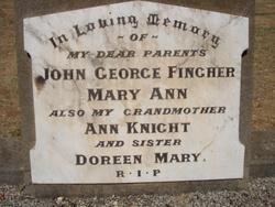 Mary Ann <I>Knight</I> Fingher
