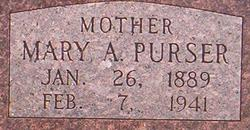 Mary A <I>Hodges</I> Purser