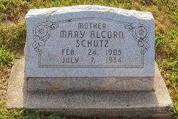 Mary <I>Alcorn</I> Schutz
