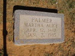 Martha Alice <I>Byrd</I> Palmer