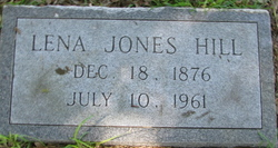 Lena <I>Jones</I> Hill