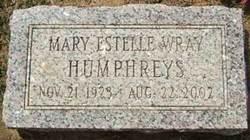 Mary Estelle <I>Wray</I> Humphreys