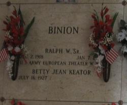 Ralph W Binion