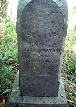 "Permilla Ann Elizabeth ""Bettie"" <I>House</I> Hamilton"