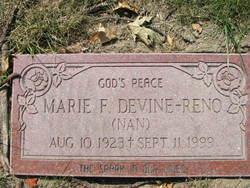 """Marie F """"Nan"""" <I>Devine</I> Reno"""