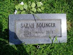 Sarah Carolyn <I>Burgess</I> Bolinger