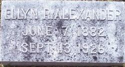 Ellyn <I>Rogers</I> Alexander