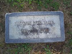 Elizabeth Chevallie <I>Heth</I> Vaden
