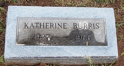 "Katherine ""Kate"" <I>Goff</I> Burris"