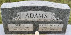 Estle <I>Tongate</I> Adams