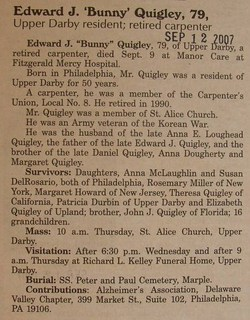 "Edward J ""Bunny"" Quigley"