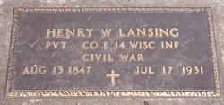 Pvt Henry Walter Lansing