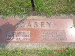 Carrie Alice <I>Harms</I> Casey