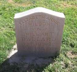 Elizabeth Annie <I>Wilson</I> Ballard