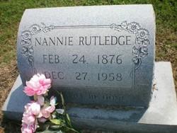 Nannie <I>Scott</I> Rutledge