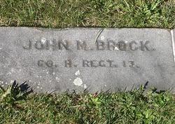 Pvt John M. Brock