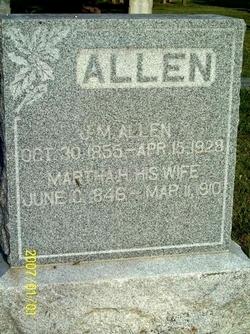 Martha H <I>Martin</I> Allen