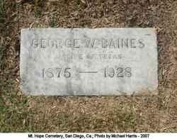 George W Baines