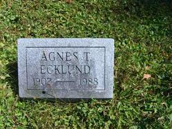 Agnes T Ecklund