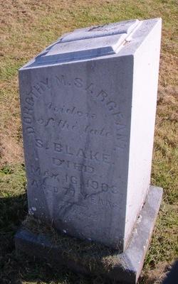 Dorothy M <I>Sargeant</I> Blake