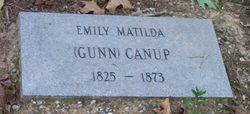 Emily Matilda <I>Gunn</I> Canup