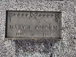 Mary E <I>Brown</I> Osborn