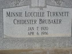 Minnie Lucille <I>Turknett</I> Brubaker