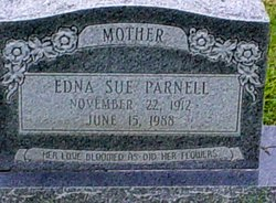 Edna Sue <I>Johnson</I> Parnell