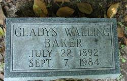 Gladys <I>Walling</I> Baker