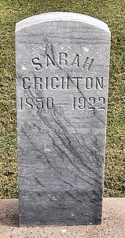 Sarah Helen <I>Thummel</I> Crichton
