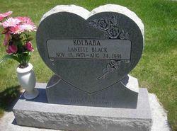 Lanette <I>Black</I> Kolbaba