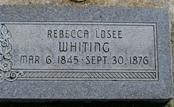 Rebecca <I>Losee</I> Whiting