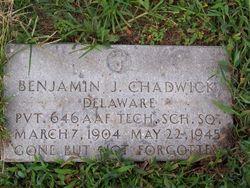 Pvt Benjamin J Chadwick